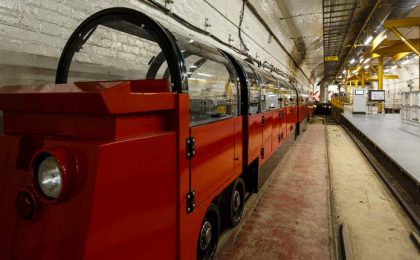 Mail Rail trein in Londen
