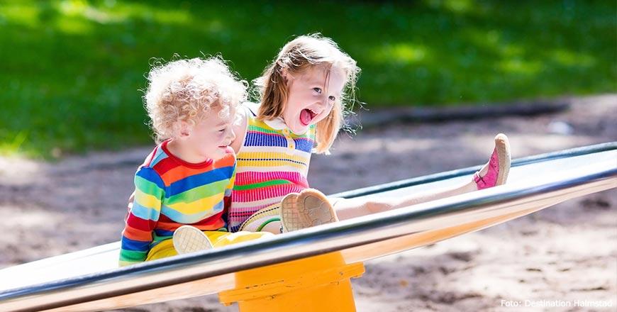 Kinderen spelen in speeltuin - Foto Destination Halmstad