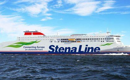 Stena Estrid- E-flexer op zee zijaanzicht